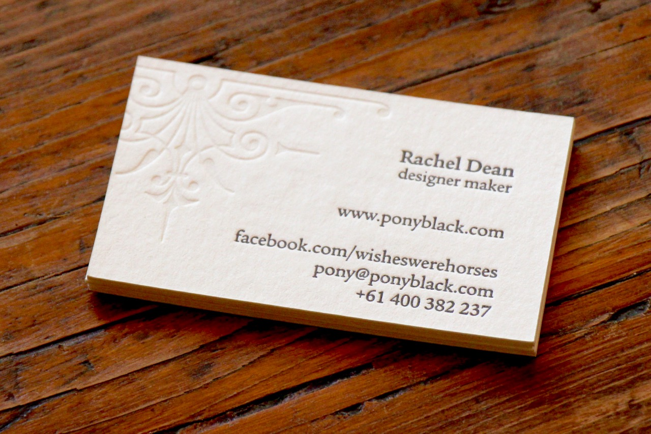 Business card designed for Pony Black by Brave Agency